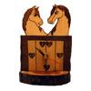 Reloj artesano de caballos